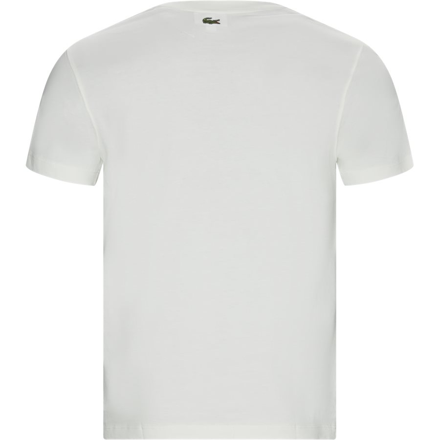 TH8602 - Crew Neck Tone-On-Tone Lacoste Embroidery Cotton T-shirt - T-shirts - Regular - OFF WHITE - 2